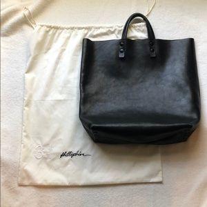 3.1 Phillip Lim Black Leather Tote Bag